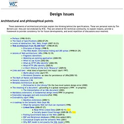 Design Issues for the World Wide Web