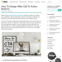 How To Design Killer Call To Action Buttons