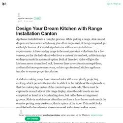 Design Your Dream Kitchen with Range Installation Canton
