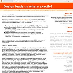 Design leads us where exactly?