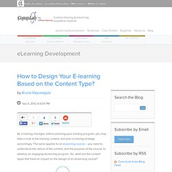 How to Design Your E-learning Based on the Content Type?