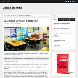 A Design Lens on Education