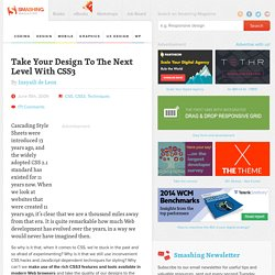 Take Your Design To The Next Level With CSS3 - Smashing Magazine