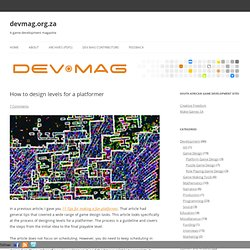How to design levels for a platformer » devmag.org.za