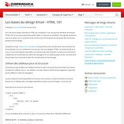 Les bases du design Email - HTML 101
