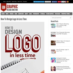 How To Design Logo In Less Time