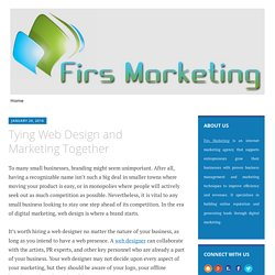 Tying Web Design and Marketing Together