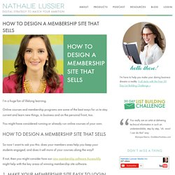 How To Design a Membership Site... That Sells For You!
