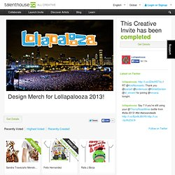 Design Merch for Lollapalooza 2013!
