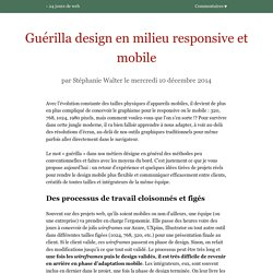 Guérilla design en milieu responsive et mobile
