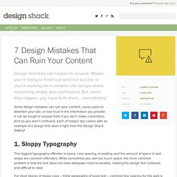 7 Design Mistakes That Can Ruin Your Content