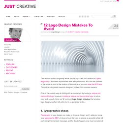 12 Logo Design Mistakes To Avoid