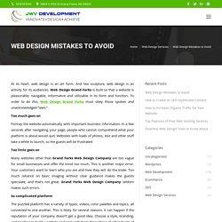 Web Design Mistakes to Avoid - JWV Development