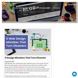 5 Web Design Mistakes That Led To Disasters