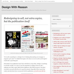 Design With Reason: Newspaper Design and Redesign