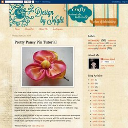 Pretty Pansy Pin Tutorial