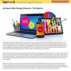 All about Web Design Orlando - The Basics - justpaste.it