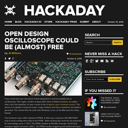 Open Design Oscilloscope Could be (Almost) Free