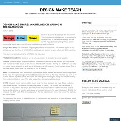 Design Make Share: An Outline for MAKING in the Classroom