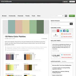 130 Retro Color Palettes by COLOURlovers