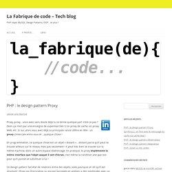 La Fabrique de code - Tech blog
