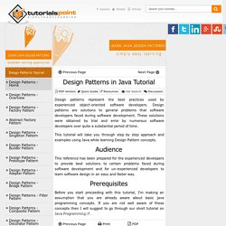 Design Patterns in Java Tutorial