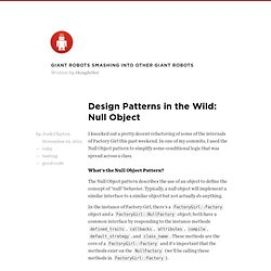 Design Patterns in the Wild: Null Object