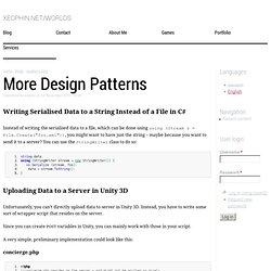 More Design Patterns