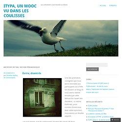 design pédagogique « ITyPA, un Mooc vu dans les coulisses