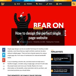 How to design the perfect single page website