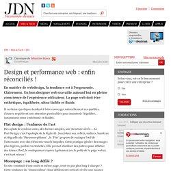 Design et performance web: enfin réconciliés! - JDN