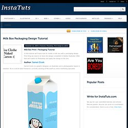 How to Design the Print on a Milk Carton in Photoshop | Instatuts.com