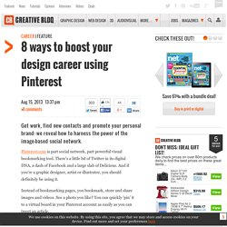 8 ways to boost your design career using Pinterest