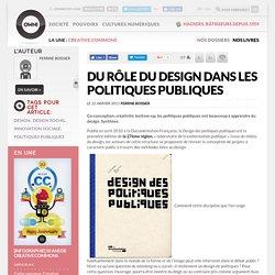 Du rôle du design dans les politiques publiques