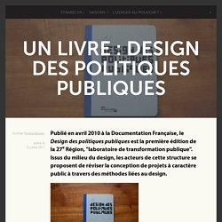 Design des politiques publiques - livre