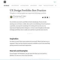 UX Design Portfolio: Best Practices - UX Planet