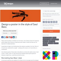 Design a poster in the style of Saul Bass - The Creative Edge