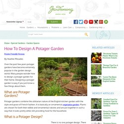 How To Design A Potager Garden - Gardening Know How