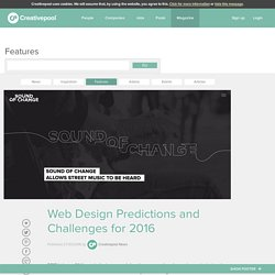 Web Design Predictions and Challenges for 2016