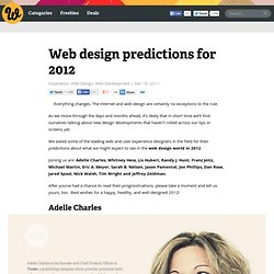 Web design predictions for 2012