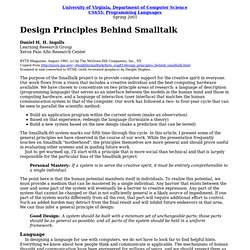 Design Principles Behind Smalltalk