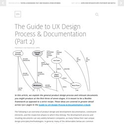 The Guide to UX Design Process & Documentation (Part 2)