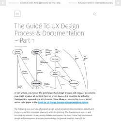 The Guide To UX Design Process & Documentation - Part 1