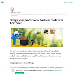 Design your professional business cards with ABC Print – Medium