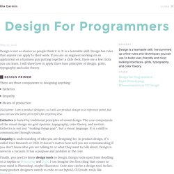Design for Programmers