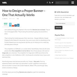 How to Design a Proper Banner – One That Actually Works
