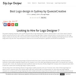 Best Logo design in Sydney by QueezeCreative - Diy Logo Designs