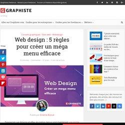 Web design: 5 règles pour créer un méga menu efficace