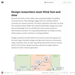 Design researchers must think fast and slow