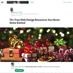 70+ Free Web Design Resources You Never Knew Existed